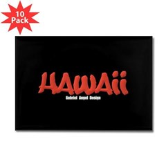 Hawaii Graffiti Rectangle Magnet (10 pack)