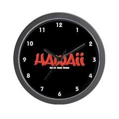 Hawaii Graffiti Wall Clock