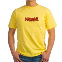 Hawaii Graffiti Yellow T-Shirt