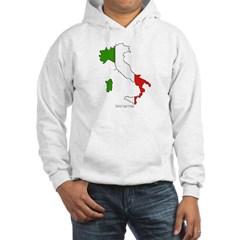 Italy Flag Map Hooded Sweatshirt