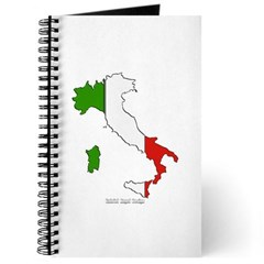 Italy Flag Map Journal