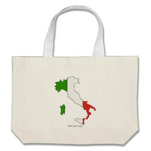 Italy Flag Map Jumbo Tote
