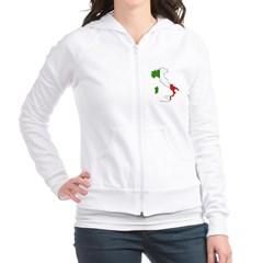 Italy Flag Map Junior Zip Hoodie