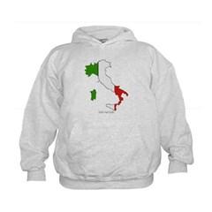Italy Flag Map Kids Sweatshirt by Hanes