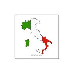 Italy Flag Map Large Posters