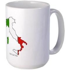 Italy Flag Map Mug