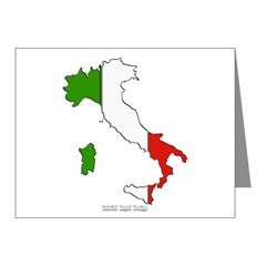 Italy Flag Map Note Cards (Pk of 10)