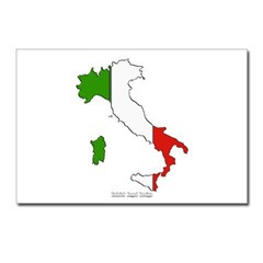 Italy Flag Map Postcards (Package of 8)