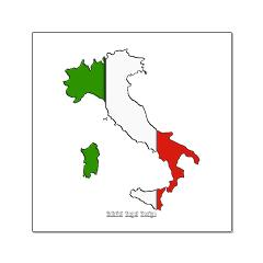 Italy Flag Map Posters
