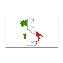 Italy Flag Map Rectangle Decal