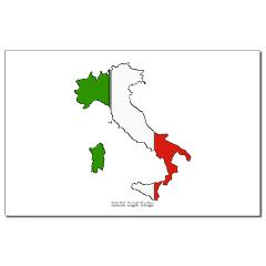 Italy Flag Map Small Posters