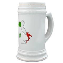 Italy Flag Map Stein