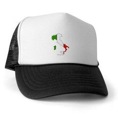 Italy Flag Map Trucker Hat