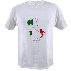 Italy Flag Map Value T-shirt