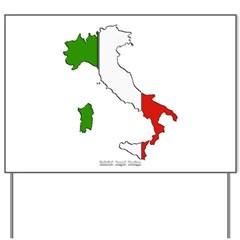 Italy Flag Map Yard Sign