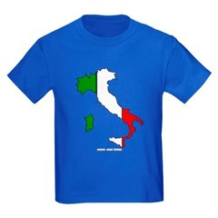 Italy Flag Map Youth Dark T-Shirt by Hanes