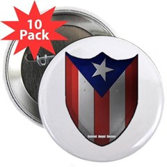 """Puerto Rican Shield 2.25"""" Button (10 pack)"""