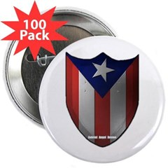 """Puerto Rican Shield 2.25"""" Button (100 pack)"""