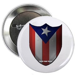 "Puerto Rican Shield 2.25"" Button"
