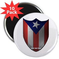 """Puerto Rican Shield 2.25"""" Magnet (10 pack)"""