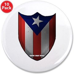 """Puerto Rican Shield 3.5"""" Button (10 pack)"""