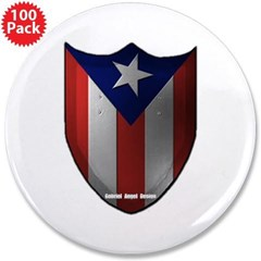 """Puerto Rican Shield 3.5"""" Button (100 pack)"""
