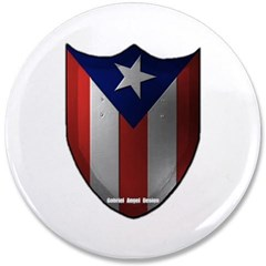 "Puerto Rican Shield 3.5"" Button"