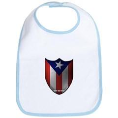 Puerto Rican Shield Baby Bib