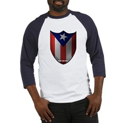 Puerto Rican Shield Baseball Jersey T-Shirt