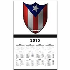 Puerto Rican Shield Calendar Print