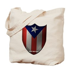 Puerto Rican Shield Canvas Tote Bag