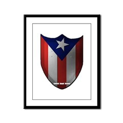 Puerto Rican Shield Framed Panel Print