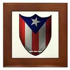 Puerto Rican Shield Framed Tile