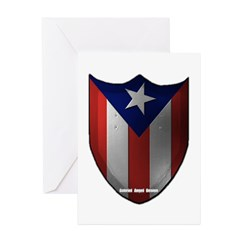 Puerto Rican Shield Greeting Cards (Pk of 10)