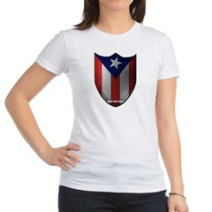 Puerto Rican Shield Junior Jersey T-Shirt
