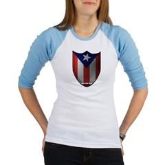 Puerto Rican Shield Junior Raglan T-shirt