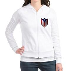 Puerto Rican Shield Junior Zip Hoodie