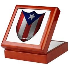 Puerto Rican Shield Keepsake Box