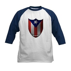 Puerto Rican Shield Kids Baseball Jersey T-Shirt