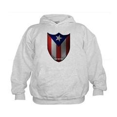 Puerto Rican Shield Kids Sweatshirt by Hanes