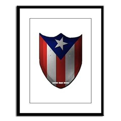 Puerto Rican Shield Large Framed Print
