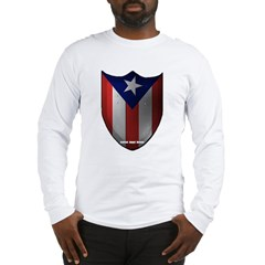 Puerto Rican Shield Long Sleeve T-Shirt