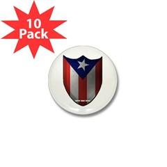 Puerto Rican Shield Mini Button (10 pack)