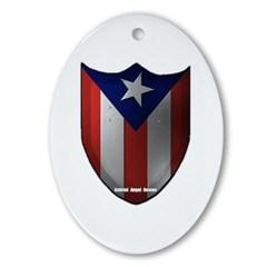 Puerto Rican Shield Oval Ornament