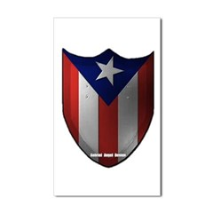 Puerto Rican Shield Rectangle Decal