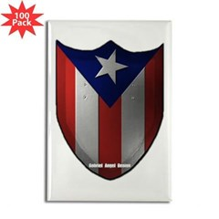 Puerto Rican Shield Rectangle Magnet (100 pack)