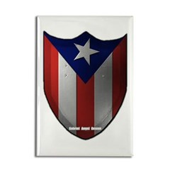 Puerto Rican Shield Rectangle Magnet