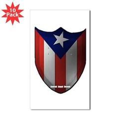 Puerto Rican Shield Rectangle Sticker 10 pk