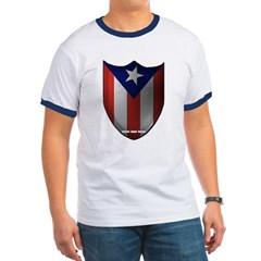 Puerto Rican Shield Ringer T-Shirt