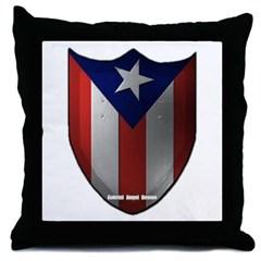 Puerto Rican Shield Throw Pillow